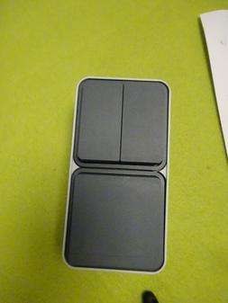 Berker 47903515 Kombination Serienschalter/Steckdose AP grau
