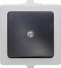 Kopp 566356003 Feuchtraum-Schalterprogramm Taster Nautic Gra