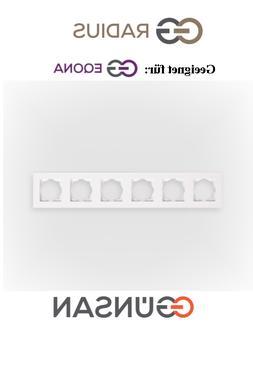 6-fachrahmen Schalter Lichtschalter Weiß Radius Eqona Gunsa
