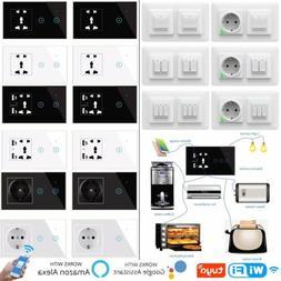 APP Alexa Glas Touch Lichtschalter Wechselschalter Steckdose