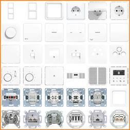 Jung CD 500 WW CD500 Steckdose Schalter Wippe Rahmen DAB Sma