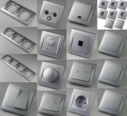 DELPHI-Serie Lichtschalter Steckdose Taster Bewegungsmelder