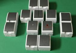 Feuchtraum Aufputz Steckdosen Schalter Kombination Doppelste