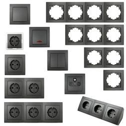 FLAIR Schalterserie für Unterputz, Licht-Schalter Doppel-St