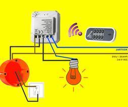 Funk-Lichtschalter Modul+Handsender-SET / Schalter nachrüst