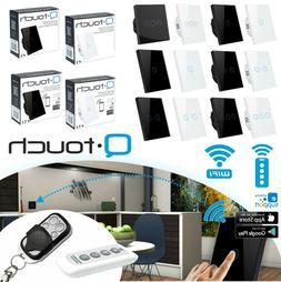 Glas Touch Lichtschalter Fernbedienung WiFi Weiß Schwarz We