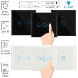 Glas Touch Lichtschalter Touchcreen Schalter WiFi APP Alexa