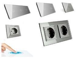 Livolo Glas Touch Schalter Lichtschalter Steckdosen Wechsels