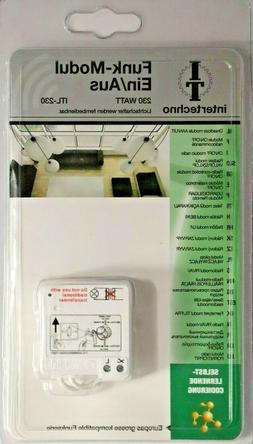 intertechno ITL-230 Funk-Modul EIN / AUS 230 W, Lichtschalte