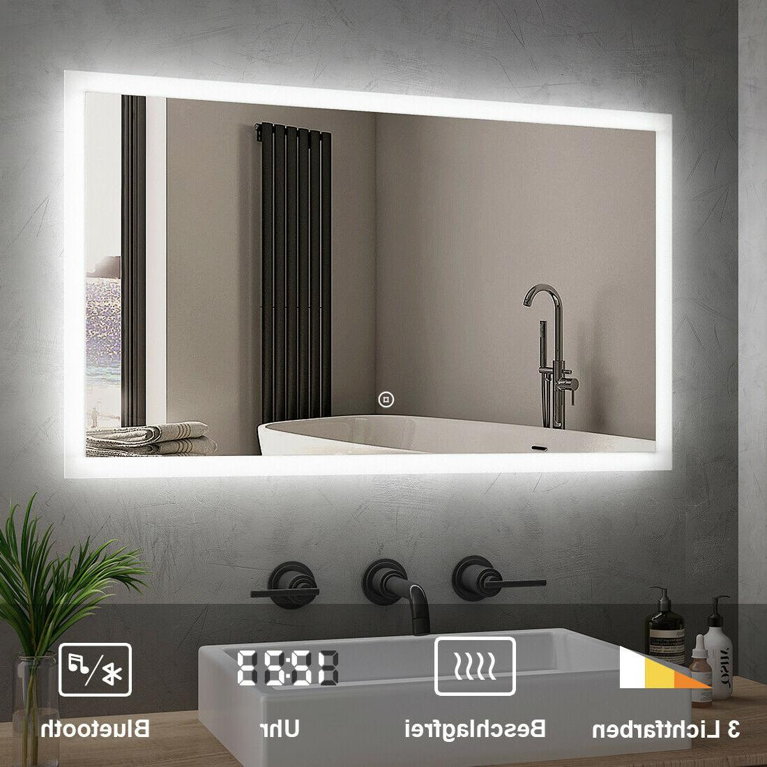 LED Badezimmerspiegel BAD SPIEGEL Beleuchtung Wandspiegel IP20 ...