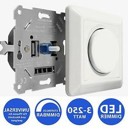 LED Dimmer Universal Unterputz Drehdimmer Lichtschalter Hell