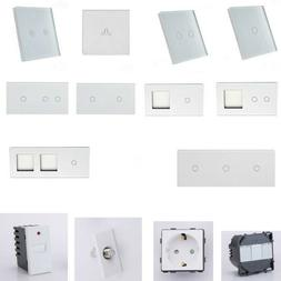 Lichtschalter, Wechselschalter, Türklingel, Steckdose, Dimm