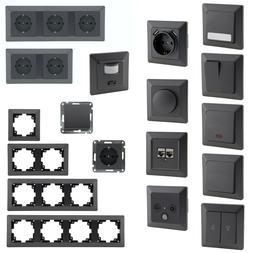 MILOS Schalterserie für Unterputz, Licht-Schalter Doppel-St