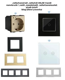 POINT Wifi WLAN Touch Lichtschalter Rolladenschalter Glas Al
