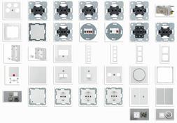 Berker S.1 polarweiß glänzend Steckdosen/Schalter/UP/Rahme
