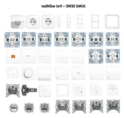 JUNG Serie CD500 Alpinweiß Schalter/Steckdose/Rahmen - frei
