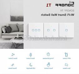 Sonoff T1 1/2/3 Gang WiFi EU/UK Panel Touchschalter Lichtsch