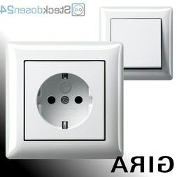 GIRA Standard 55 Reinweiß Glänzend Schalter Steckdosen Sys