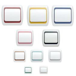 Steckdosen, Schalter, Lichtschalter, Zwichenrahmen, Clips, E