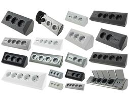 Steckdosenblock 250V~/ 16A Aufbaumontage für Arbeitsplatten