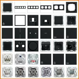 GIRA System 55 E2 Schwarz matt USB Steckdose Rahmen Schalter