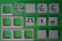 Merten System M / Rahmen 1-M 1M polarweiß glänzend Steckdo