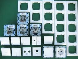 Gira System55 Steckdose  Schalter / Wippe / Rahmen reinweiß