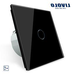LIVOLO Wechselschalter Touch Lichtschalter Touch Glas in Sch