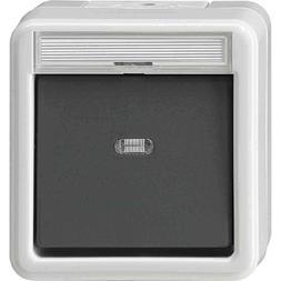 GIRA Wipptaster + Meldekontakt WG AP Grau 015230 Elektro- un
