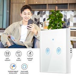 WLAN 2 Fach Alexa/Google Lichtschalter WIFI Wandsteckdosen S